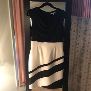 Sandra Darren black and white dress